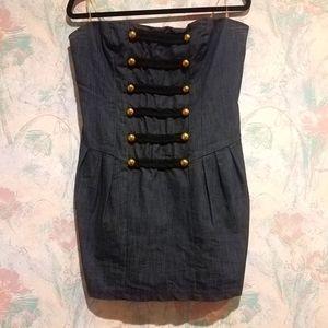 Forever 21 Strapless Denim Dress
